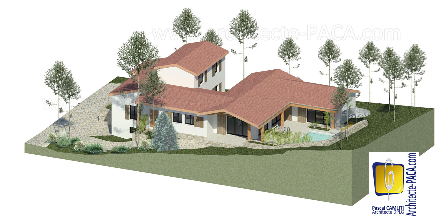 Maquette ou mod lisation 3d de plan de maison service d for Creation maison 3d