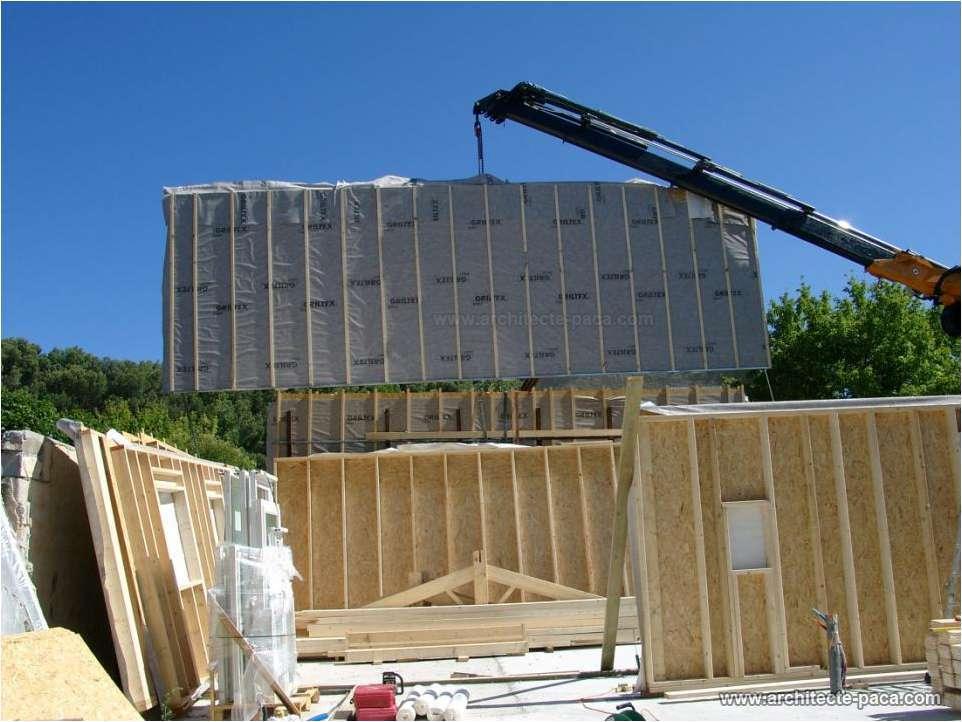 Exemple de plan de maison bois construction des exemples for Architecte maison ossature bois