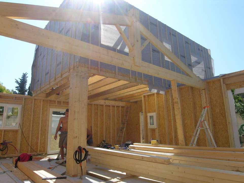 exemple de plan de maison bois construction des exemples. Black Bedroom Furniture Sets. Home Design Ideas