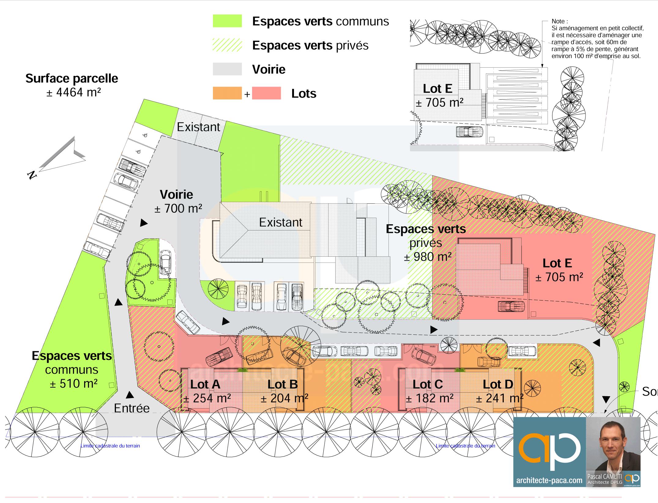 Plan de masse étude de faisabilité Venelle BdR