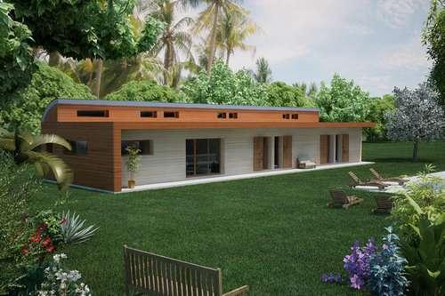 Plan de maison Plain pied ou plein pied, Construire pour quel prix une maison de plain pied  # Maison En Bois Paca