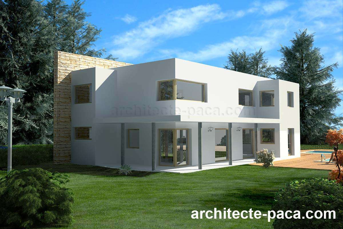 Architecte dplg a marseille pascal camliti atelier d for Plan maison architecte contemporaine