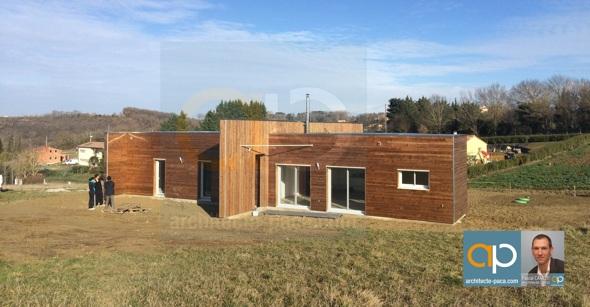 Maison contemporaine bois d'architecte
