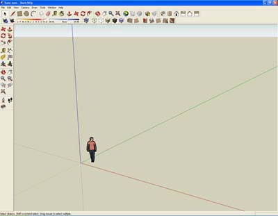 Interface Sketchup Google