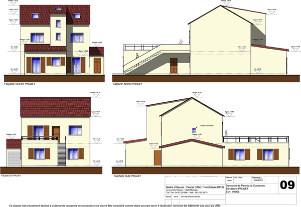 R alisations extension r novation d coration maison individuelles - Plan coupe facade maison ...