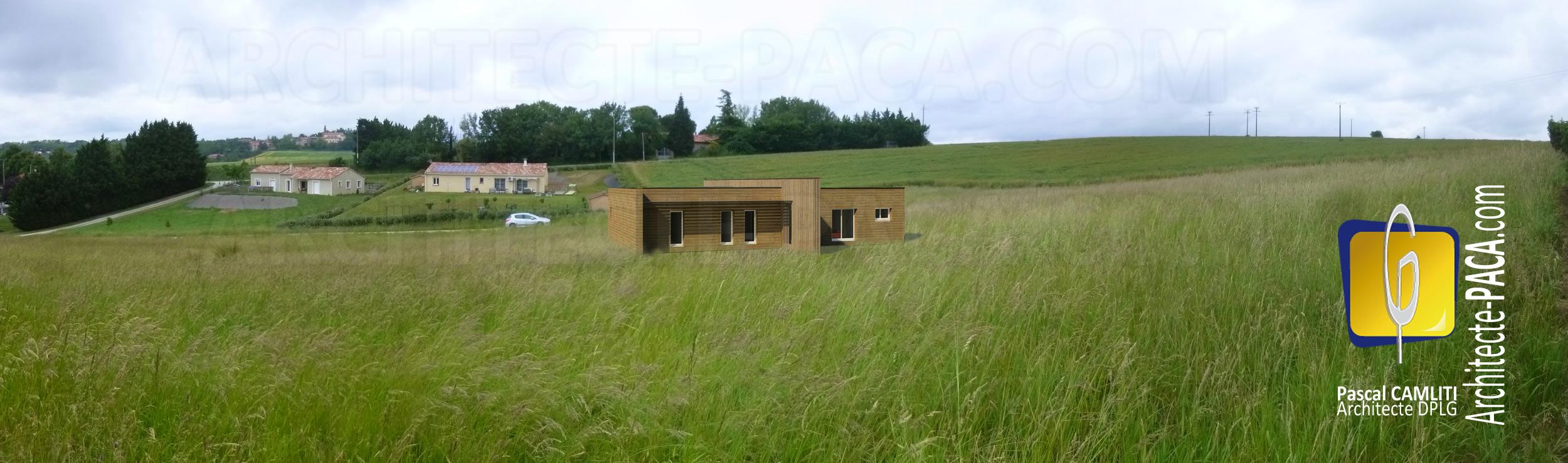 Maison en ossature bois à LANTA
