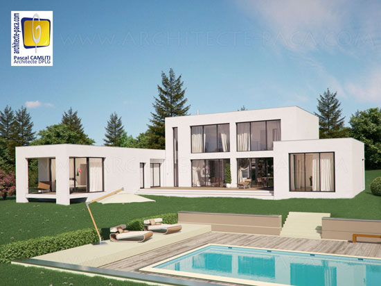 Maison architecte 200m2 for Plan maison moderne 200m2