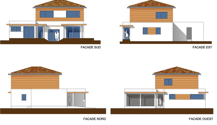 Architecture moderne maison dessin solutions pour la for Architecture design maison