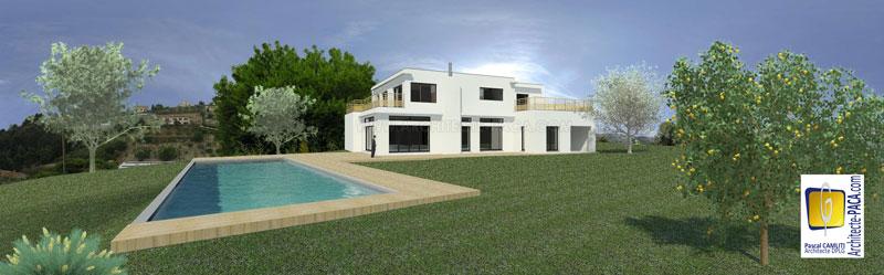 maison contemporaine architecte - Maison Moderne Blanche