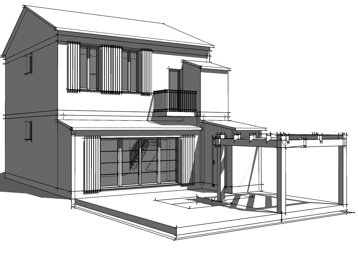 Comment dessiner un plan de maison en perspective auto for Architecte plan maison