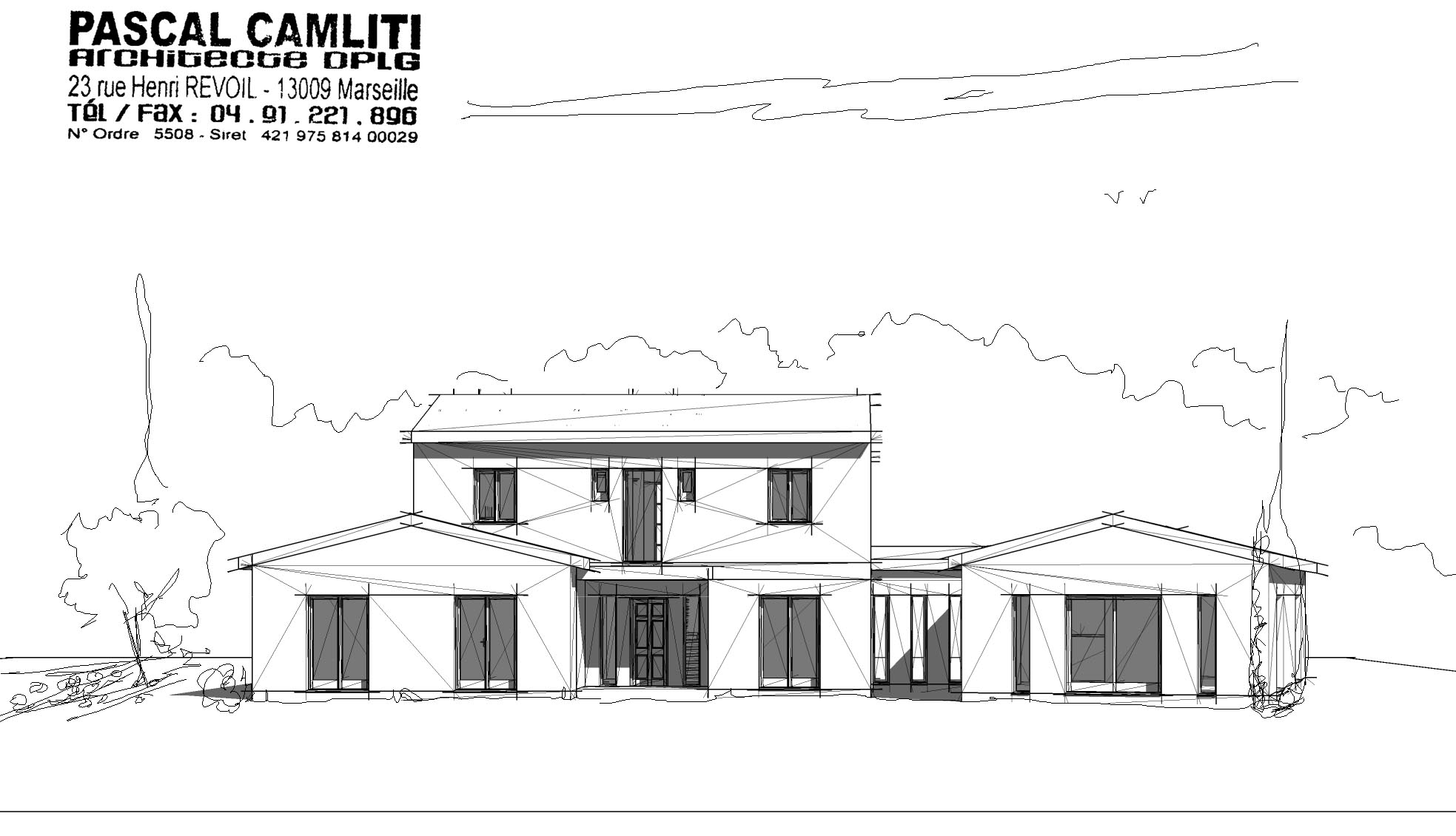 facade plan maison individuelle