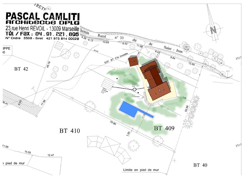 plan masse maison individuelle