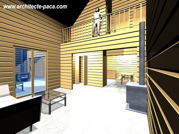 Perspective Maison bois