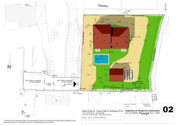 R alisations de maisons individuelles d 39 architecte - Plan de masse maison individuelle ...