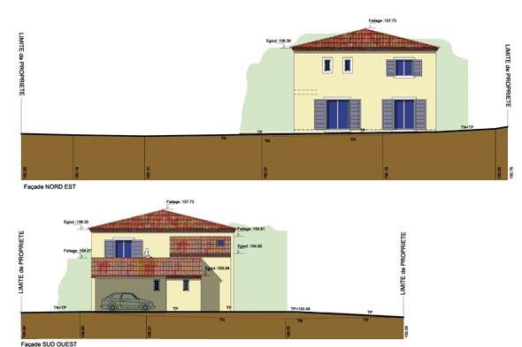Façade maison individuelle
