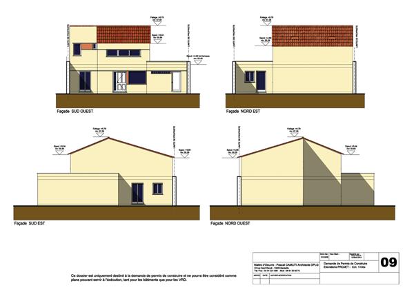 façades plan de maison