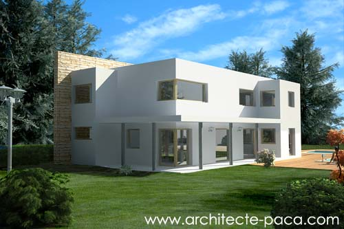 Plan maison architecte moderne 3d images for Modele de maison contemporaine architecte