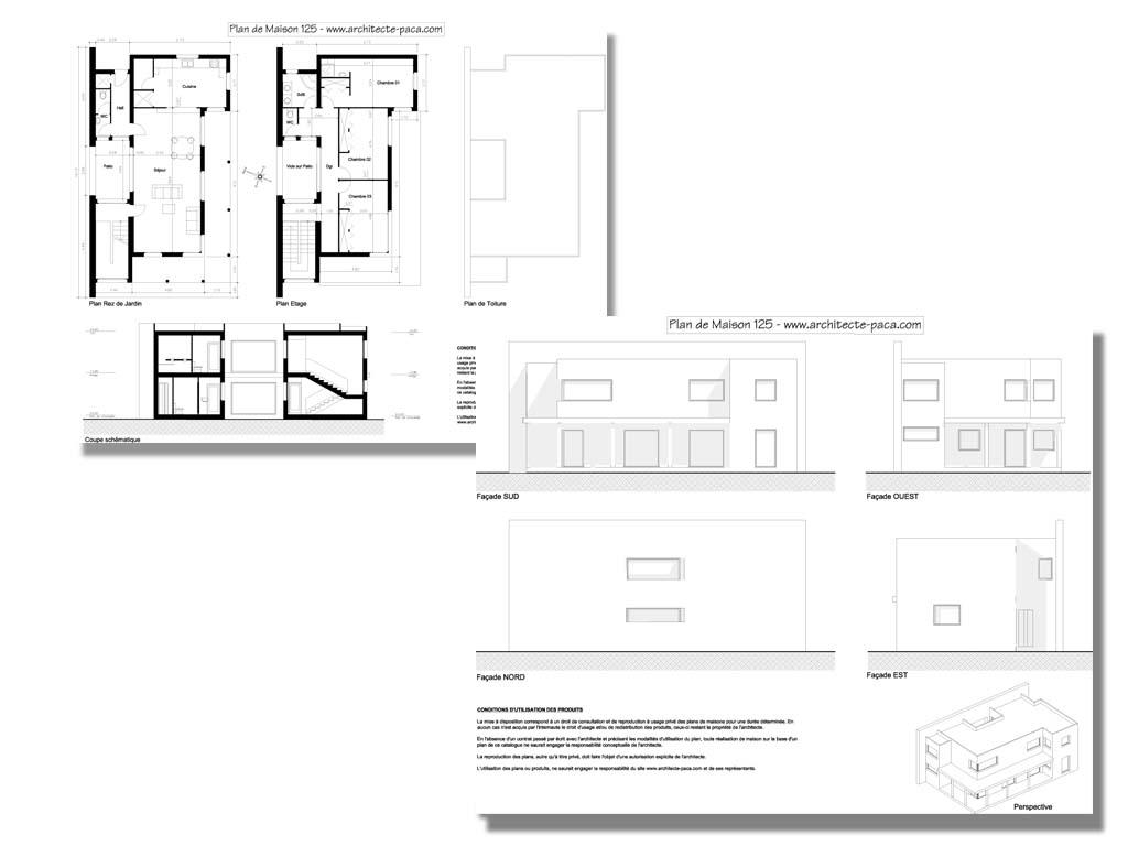 plan de maison individuelle n° 125 - votre COMMANDE