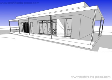 Télécharger : Plan maison 116 - Modéle 3D SKETCHUP, Plan de maison