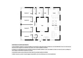 t l charger plan maison avec patio 130 plan 1 100e plan de maison individuelle d 39 architecte. Black Bedroom Furniture Sets. Home Design Ideas