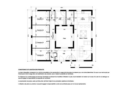 posts related to plan maison en forme de u gratuit pictures to pin on maison en v plain pied - Plan Maison Moderne Plain Pied