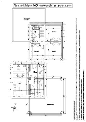 Plan de maison moderne capseacusiz - Plan de coupe maison ...