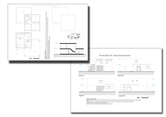 T l charger plan maison 140 dossier complet plans for Plan maison complet