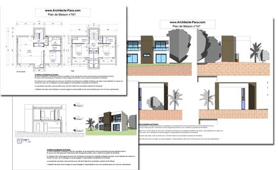 T l charger plan maison contemporaine cube dossier for Plan complet maison
