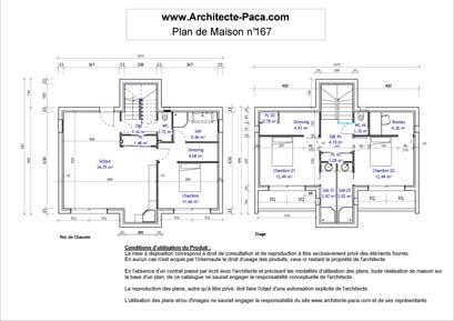 T l charger plan maison contemporaine cube niveaux 1 for Plan d architecte de maison