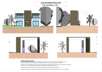 T l charger plan maison contemporaine cube facades 1 for Photo de facade de maison moderne