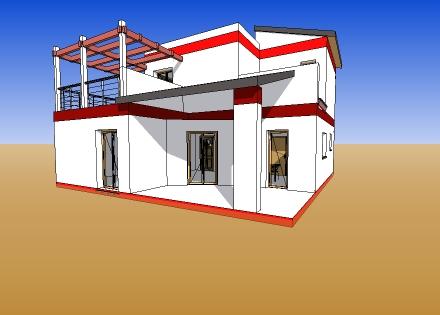 T l charger plan maison 112 maquette 3d sketchup plan for Maison 3d gratuit