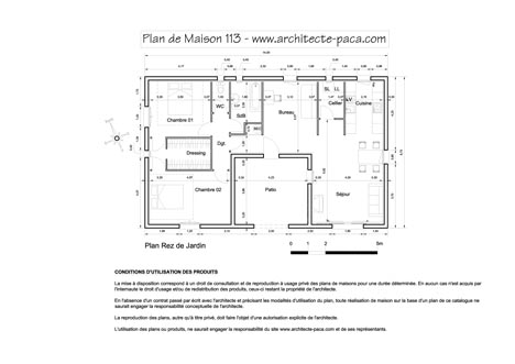 T l charger plan maison en u n 113 1 100e avec mesure for Plan maison en u