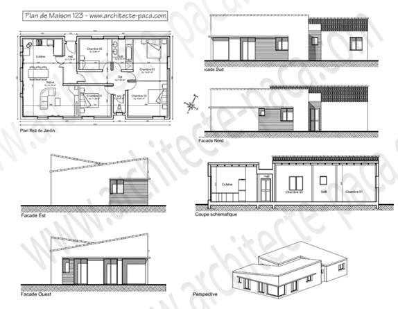 Plan de maison moderne d architecte gratuit pdf rouen for Plan facade maison