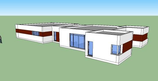T l charger plan maison moderne 136 maquette 3d plan for Plan maison sketchup