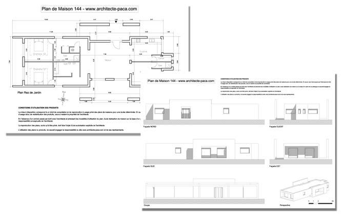 T l charger plan maison moderne 144 dossier complet plans coupe facades plan de maison - Plan de coupe maison ...