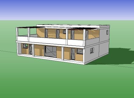 T l charger plan maison 146 maquette 3d plan de for Modele maison sketchup