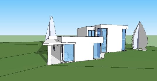 T l charger plan maison grande famille maquette 3d for Plan maison sketchup