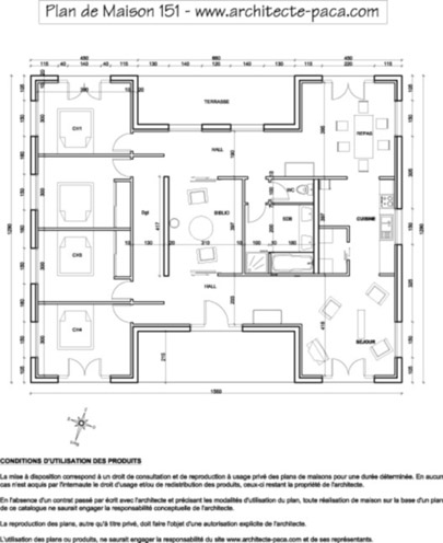 T l charger plan de maison bois plain pied sur mesure for Plan de maison architecte