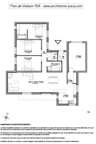 T l charger plan maison plain pied contemporaine 1 100e for Exemple de plan de maison gratuit