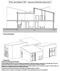 T l charger plan maison contemporaine 161 coupe 1 100e plan de maison individuelle d - Plan de coupe maison ...
