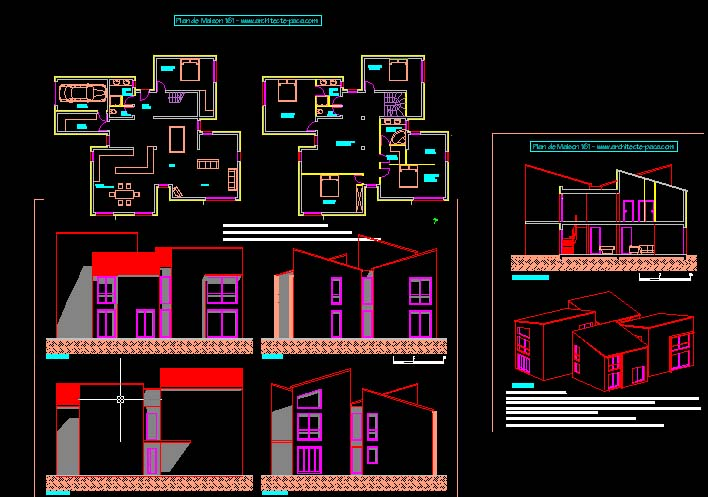 T l charger plan maison contemporaine 161 fichier - Plan architecturale de maison ...