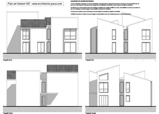 T l charger plan maison contemporaine 161 facades 1 100e plan de maison in - Facade architecture maison ...
