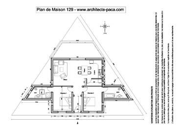 T l charger plan de maison 129 niveaux 1 100e cotations for Maison en triangle