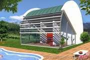 Plan Maison Design 5 pièces, ± 130 m²