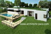 Plan Maison moderne 4 pièces Villa