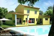 Plan de Maison Provençal 4 pièces villa