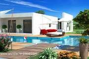 Plan de Maison moderne Toit plat Villa