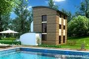 Plan de Maison bois architecte 5 pièces Villa