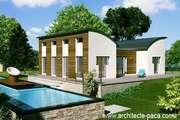 Plan Maison bois BBC de 5 pièces Villa