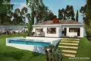 Plan Maison plain pied 4 pièces, ± 152 m²